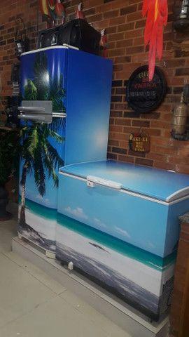 Envelopamento de geladeira - Foto 3