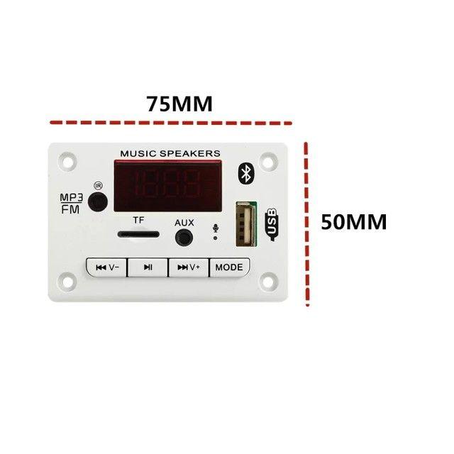 Placa de leitura de áudio Bluetooth USB FM - Foto 3