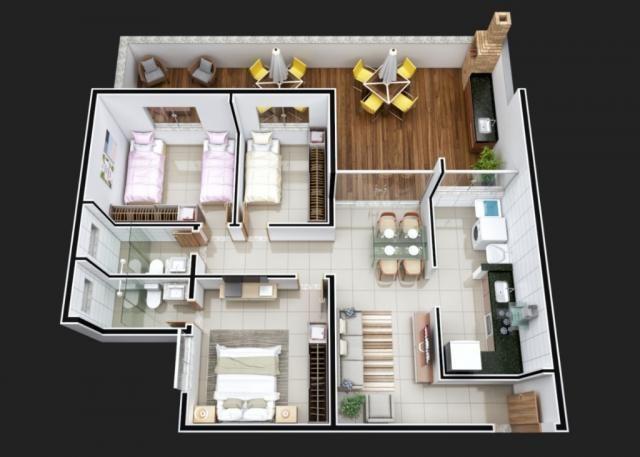 Apartamento à venda com 3 dormitórios em Iguaçu, Ipatinga cod:477 - Foto 5