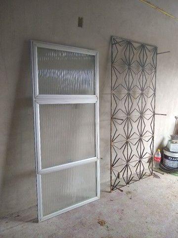 Janelas esquadria de alumínio usada - Foto 2