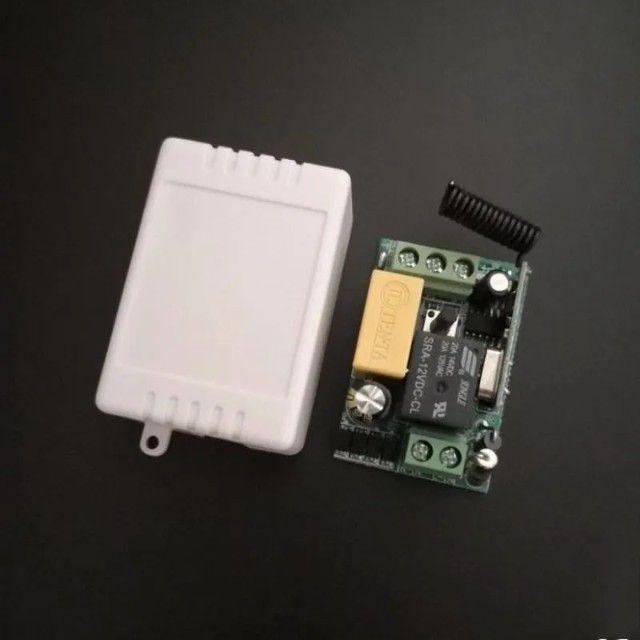 Interruptor Parede Duplo Lampada Relé Wifi Controle Remoto - Foto 2