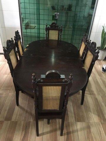 Mesa de jantar retrátil antiga