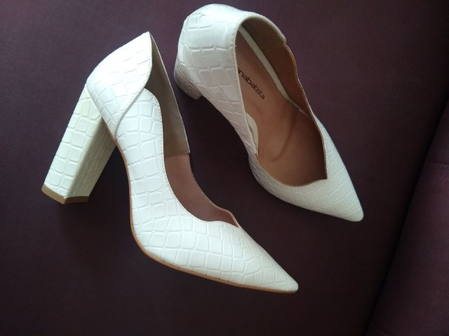 Sapato branco novo - Foto 5