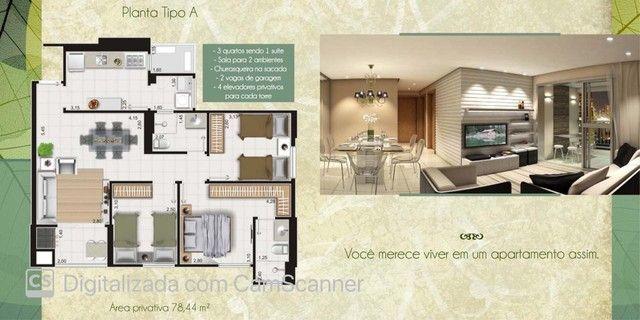 Apartamento Pronto, possui 78 metros quadrados com 3 quartos em Jardim Europa - Cuiabá - M - Foto 9
