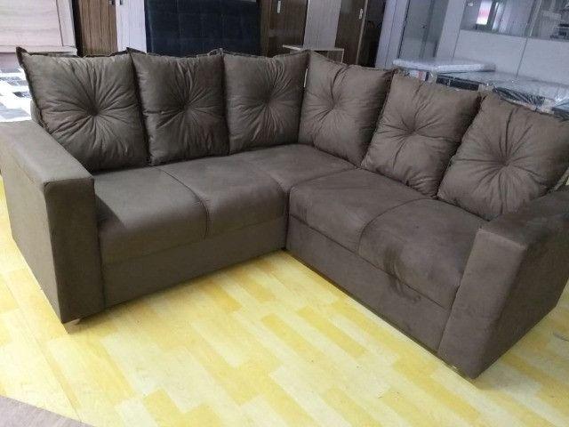 Oferta**Sofa De Canto Animalle , Suede, 1,80x1,80m *Novo