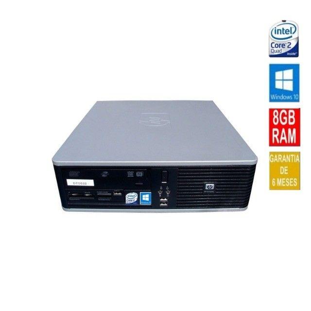 Computador HP Intel Core 2 Quad 8gb Ram Hd 160 Windows 10