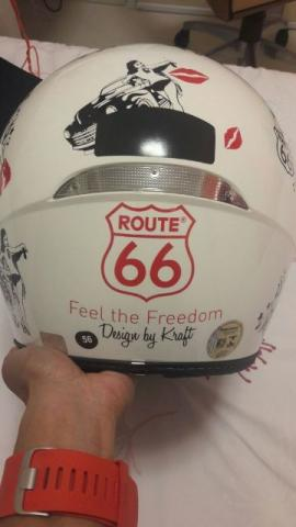 Capacete Harley Davidson Route 66 Pin Up