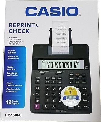 1bf2e05d7f0 Calculadora de mesa c bobina 12 digitos HR150RC Casio Brasil CX 1 UN ...