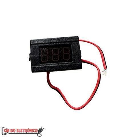 Mini Voltimetro Digital 4.5V a 30V p/ Som Bateria Painel Solar