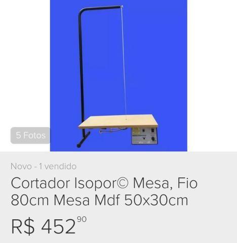 Cortador Isopor Mesa, Fio 80cm, Mesa Mdf 50x30cm - Foto 6