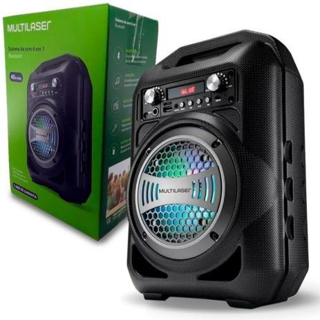 Caixa de Som Portátil Multilaser 40W Entradas USB/Bluetooth/Micro-SD/AUX e FM - Foto 3