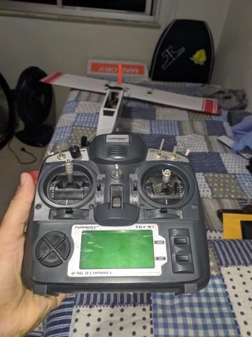 Rádio para Aeromodelo turnigy 9x completo - Foto 2