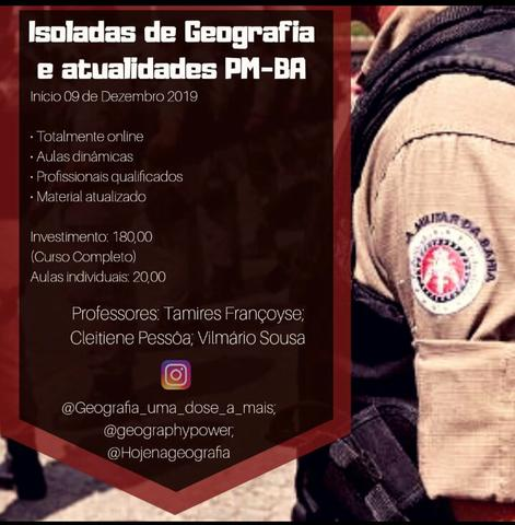 Curso ISOLADO DE GEOGRAFIA PM - BA