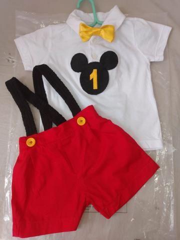 Roupa Mickey 1 aninho - Foto 3