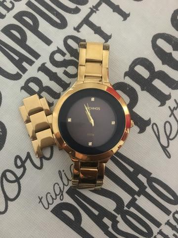 Relógio Technos Dourado Feminino Elegance St. Moritz - Bijouterias ... 96d161657f