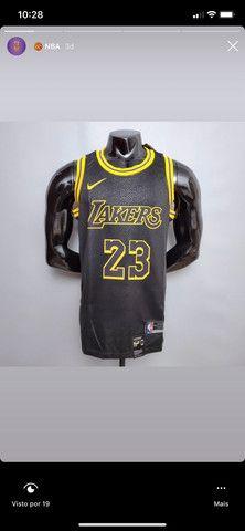 Camisas de Basquete NBA Silk - Foto 5