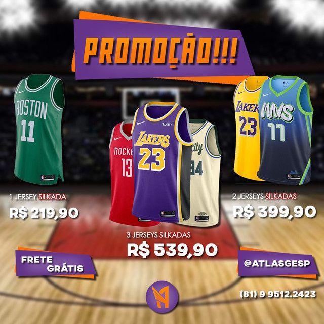 Camisas de Basquete NBA Silk