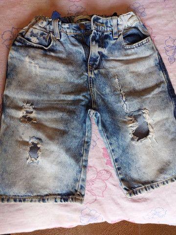 Bermuda de moletom,conjunto de bermuda e camisa Polo, calça e bermudas jeans  - Foto 2