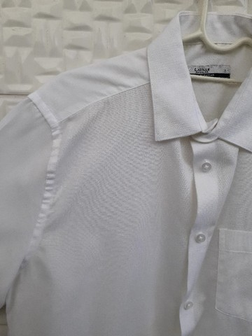 Camisa Branca Manga Curta - Social Masculina - Tam 1/P - Riachuelo Laville - Foto 3
