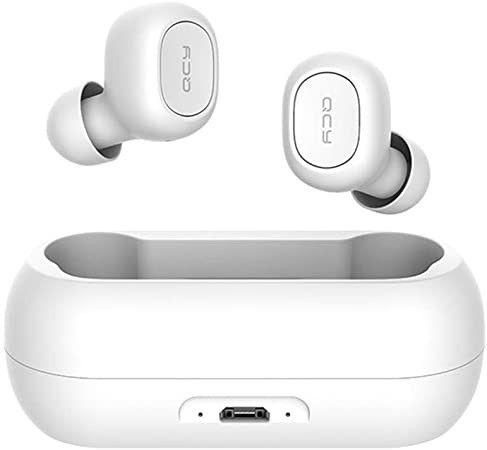 Fone de ouvido In-ear sem fio Xiaomi QCY T1C branco e Preto