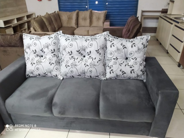 Oferta**Conjunto Sofa Animalle 2 e 3 Lugares, Novo!! - Foto 5