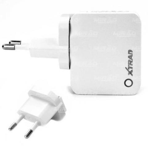 Carregador Inteligente Portatil 2 Usb Portas 2.4 A -1022 + Cabo Iphone - Mega Infotech !!