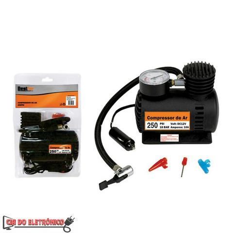 Mini Compressor de Ar 12v 250psi (BFH1225)