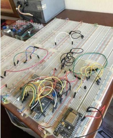Kit completo com 12 Protoboards (PCB Bread Board) + Fonte + Regulador - 12v - 5v - 3,2v