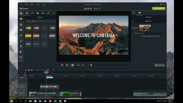 Camtasia Studio Editando vídeo