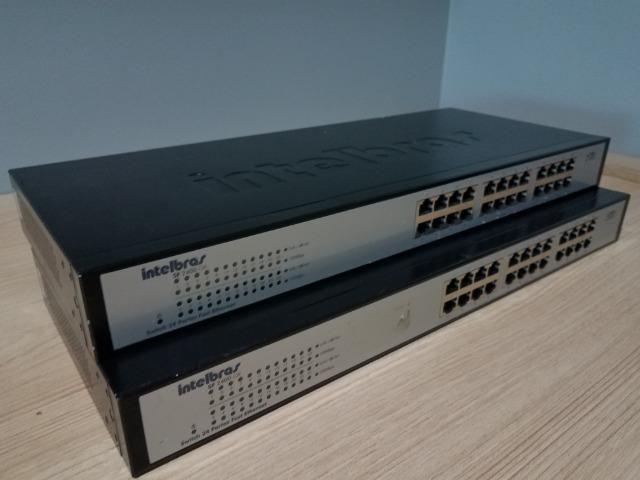 2 Switches Intelbras e Roteador TP Link - Foto 4