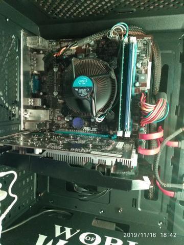 Kit gamer placa mãe placa de vídeo processador i5 8 gb memória ram - Foto 2