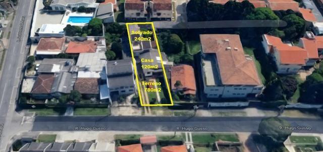 Terreno 780 m2 e sobrado 240m2 - Capão Raso - 1 quadra Av Brasilia