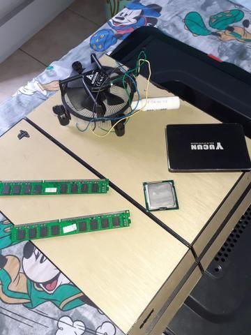 Ps4 fat sem manete e sem hd ssd 120gb 8gb de ram ddr3 cooler intel i5 2300 gabinete shark - Foto 2