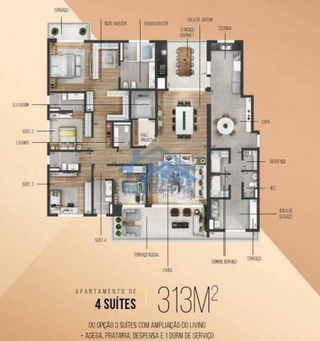 Apartamento com 5 dormitórios à venda, 410 m² por R$ 3.690.000,00 - Edifício Myrá - Baruer - Foto 3