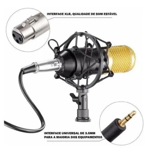 Microfone Estúdio Profissional Condensador Andowl 7451