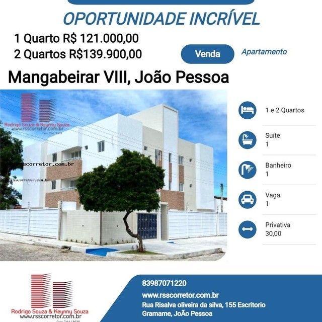 Apartamento para Venda em João Pessoa, Mangabeira, 2 dormitórios, 1 suíte, 1 banheiro, 1 v