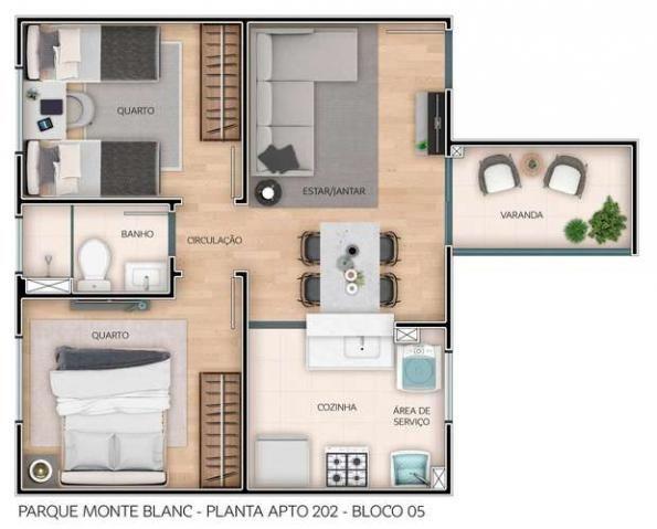 Parque Monte Blanc - Apartamentos de 2 dorms. 39 a 45m² - São Carlos - São Paulo - Cod. 41 - Foto 15