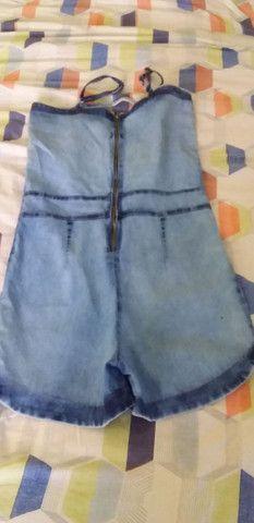 Macaquinha jeans e um vestido P/M novos .  - Foto 2