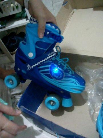 Patins Power Roller Star com Luzes - Foto 2