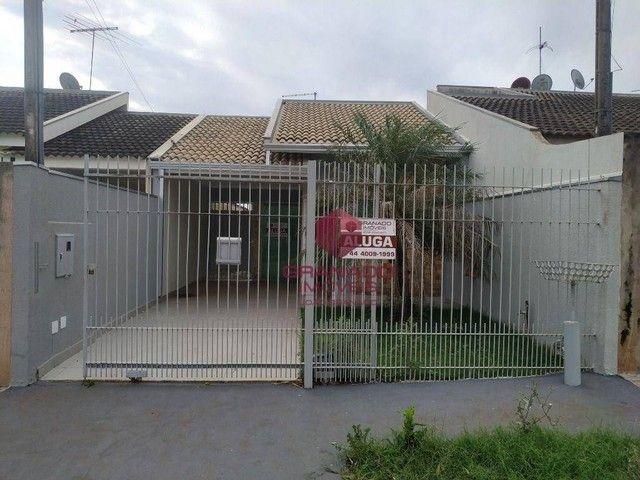 Casa com 3 dormitórios para alugar, 119 m² por R$ 1.200,00/mês - Jardim Tóquio - Maringá/P