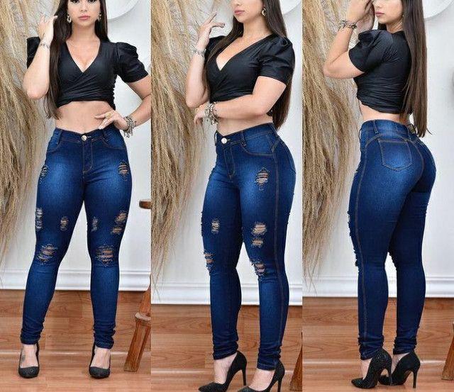 Calça jeans destroyde