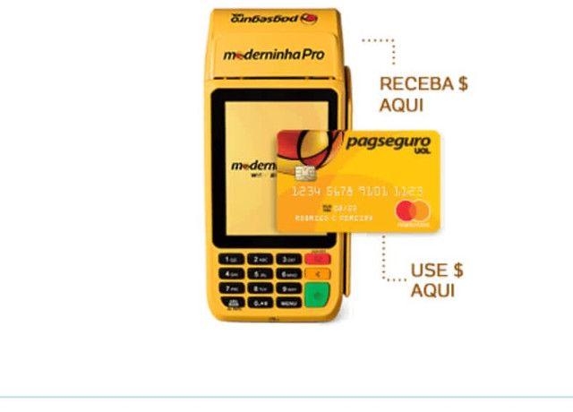 A Moderninha Pro Point A Pronta entrega chip NFC Pagseguro - Foto 3