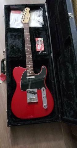 Fender American Standard Telecaster Crimson Red Transparent com Case