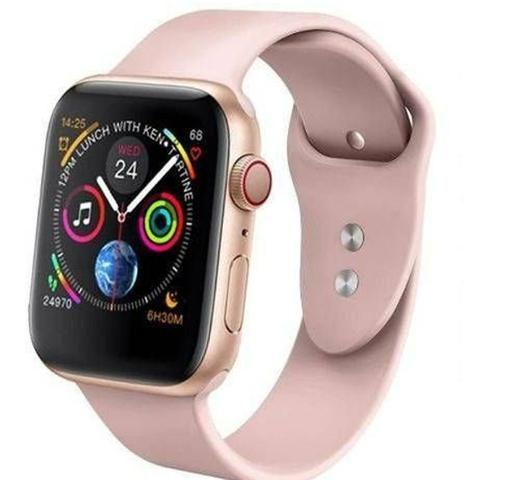 Relógio inteligente rose compatível para iPhone Samsung