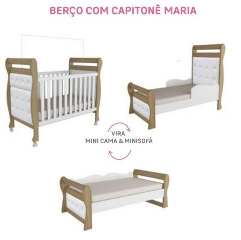 Frete Grátis * Quarto de bebê roupeiro Biel + Bibox e Berço - Maria - Foto 2
