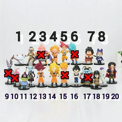 Boneco Dragon Ball Z Goku Vegeta Freeza Valor unidade