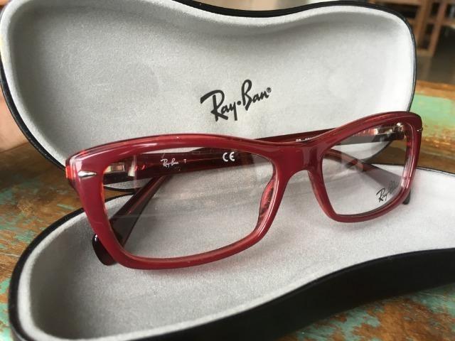 d271e094e Armação Oculos Grau Ray Ban Original feminino, Novo! - Bijouterias ...