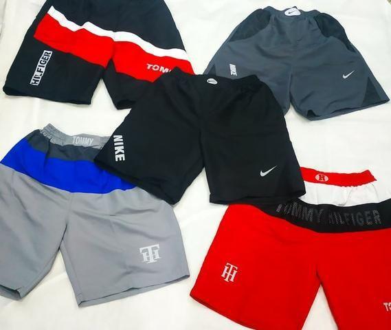 Bermudas Refletivas Nike e Tommy- Todas novas - Entregamos nas estações- P ao GG