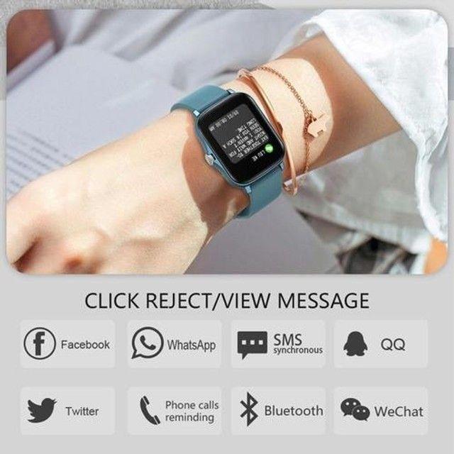 Relógio Smartwatch Colmi p8 plus Original Preto + pulseira extra silicone - Foto 6