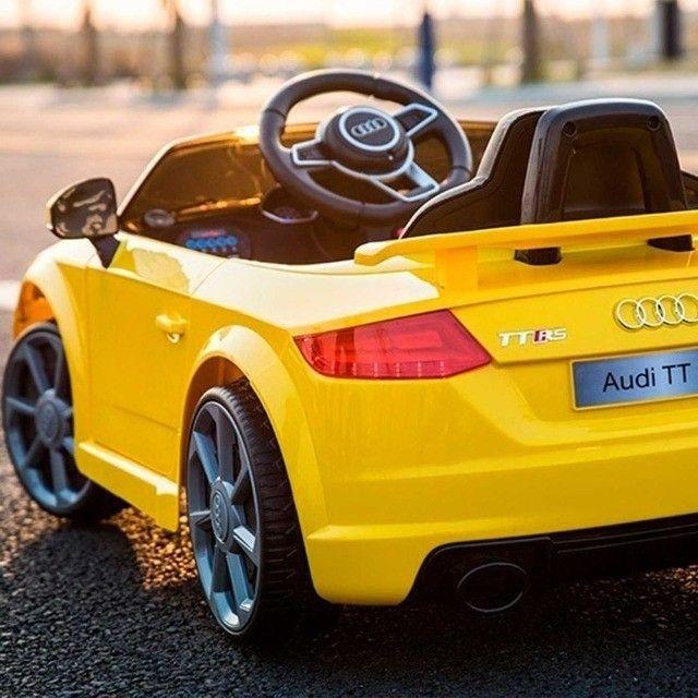 Carrinho Elétrico Audi TT RS - Disponível nas cores Vermelho e Amarelo - Foto 2